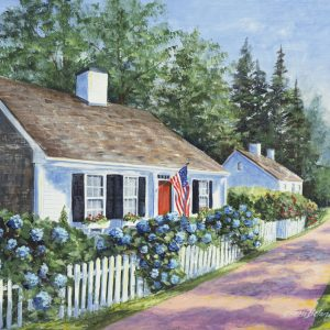 New England cottage painting