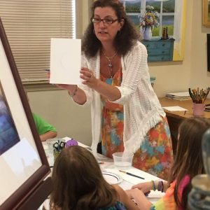 Kristine Brock teaches summer art camp