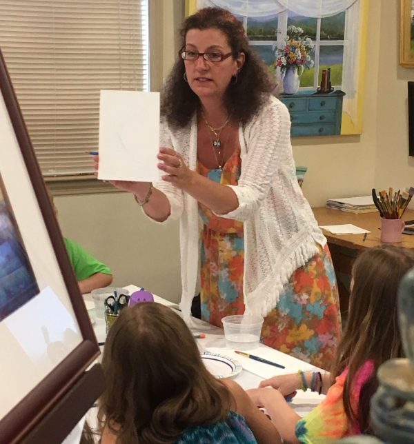 Kristine Brock teaches summer art camp